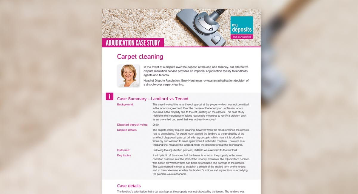 Carpet Cleaning – Dispute Case Study