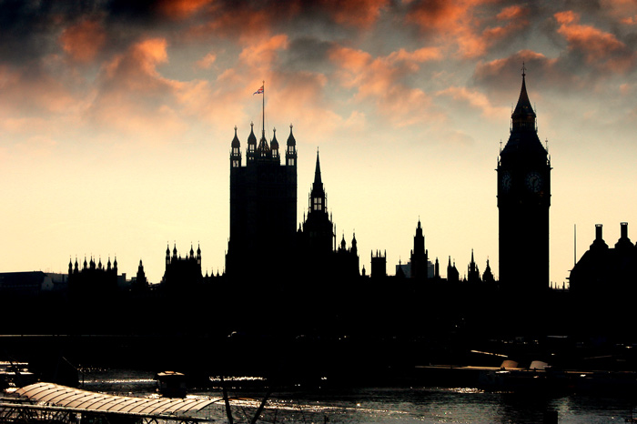 Minister brands rogue landlords as b*st*rds - Image showing houses of parliament at dusk