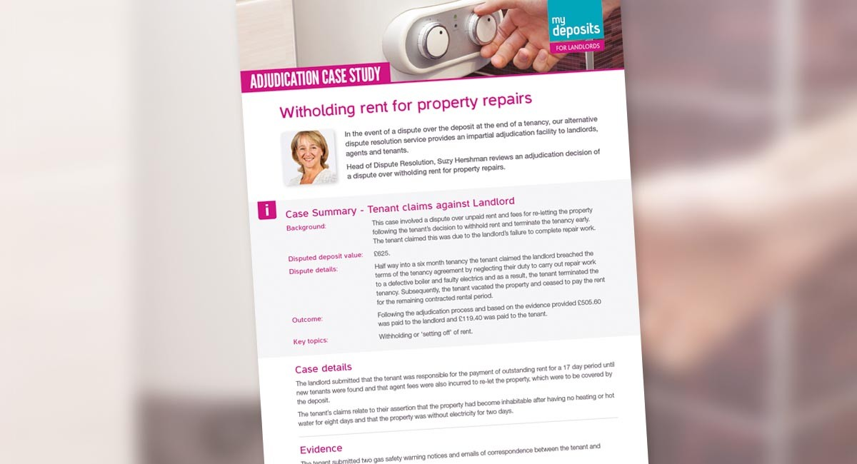 Withholding Rent for Property Repairs – Dispute Case Study