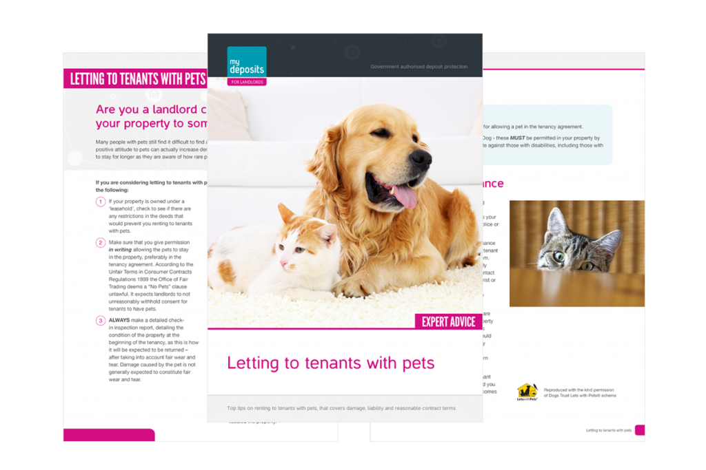 Tenants With Pets Mydeposits