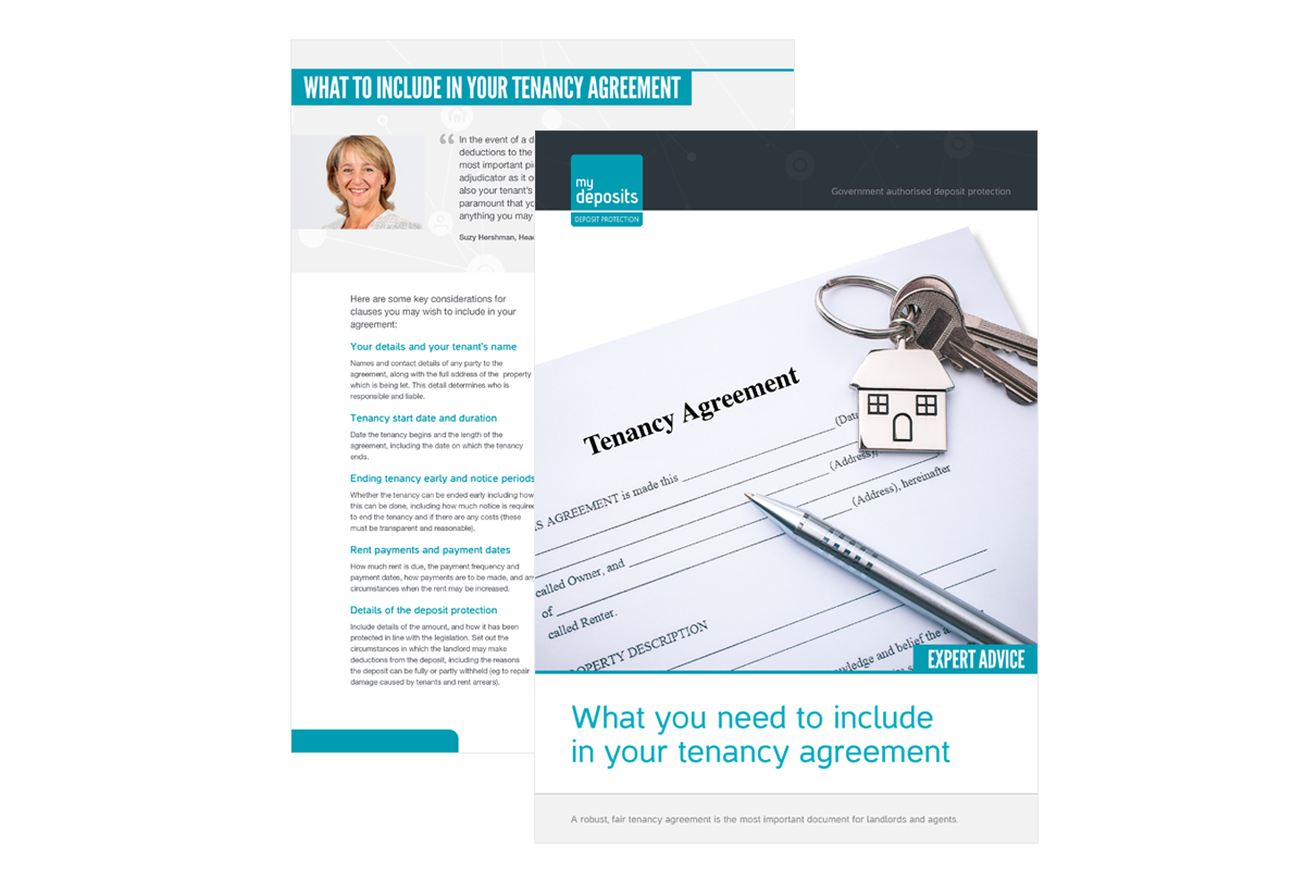 What To Include In Your Tenancy Agreement Mydeposits